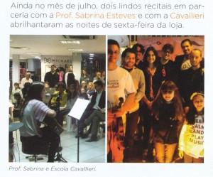 noite clássica cavallieri, serenata instrumentos musicais, alunos escola de música cavallieri tocando