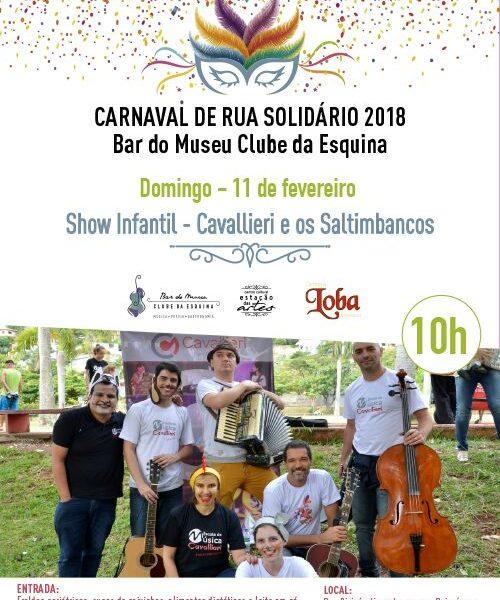 Saltimbancos Cavallieri no Carnaval do Clube da Esquina